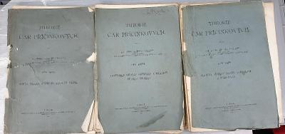 Theorie čar příčníkových I., II,. III.  Zdeněk Bažant 1909,1910, 1912