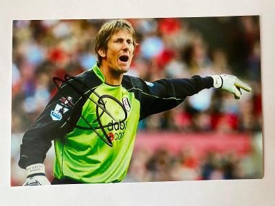 Autogram - Edwin van der Sar - Manchester United, Fulham - legenda