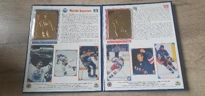 WAYNE GRETZKY 22KT Gold (ROOKIE AND CAREER CARDS)