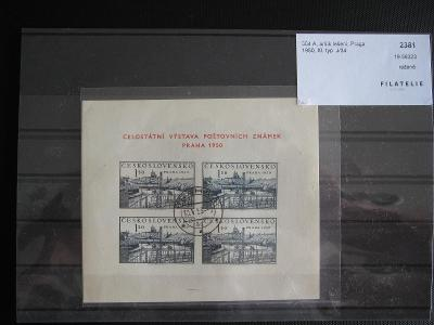 ČSR- 1950 Výstava PRAHA 1950- Aršík lešení Pofis 504A XI typJ/34  RAŽ
