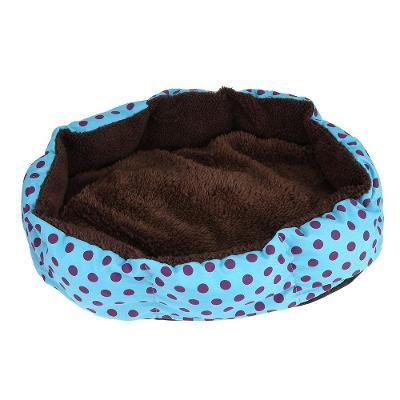 Útulný pelíšek pro kočku psa modrý