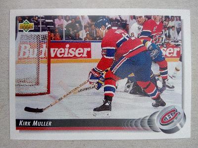 Kirk Muller, Montreal Canadiens, #180, UD 1992/93