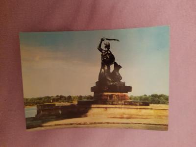 Pohlednice Varšava - pomník Syreny,prošlé poštou