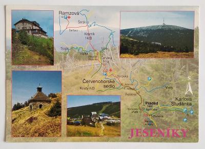 JESENÍKY - Mapa Okénková Chata Jiřího Studánka /700