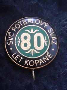 Odznak SVČ FOTBALOVÝ SVAZ, výroční 80 let