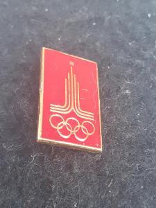 Odznak LOH MOSKVA 1980 - červená varianta