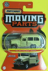 1962 Willys Jeep Wagon - Matchbox moving parts 7/20 (MB4-4)