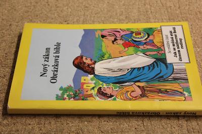 STARÁ KNIHA OBRÁZKOVÁ BIBLE  ROK 1991