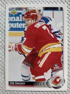 Tim Sweeney, Calgary Flames, #95, UD 1992/93