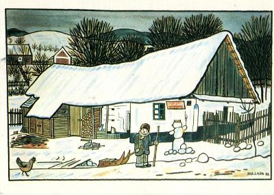 Pohlednice - Josef Lada - Na dvoře