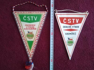 Staré sportovní vlaječky, Okresní výbor ČSTV KROMĚŘÍŽ
