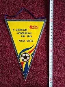 Stará fotbalová vlaječka, Odborářské hry 1984, Velká Bíteš