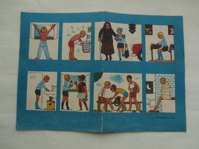 Školní rozvrh hodin Červený kříž Z. Křemenová 1967 ČSSR