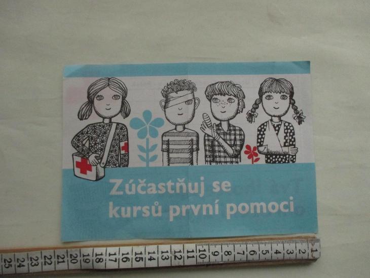 Školní rozvrh hodin Červený kříž, první pomoc KÚNZ OZV PLZEŇ 1982 ČSSR - Antikvariát