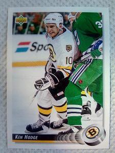 Ken Hodge, Boston Bruins, #254, UD 1992/93