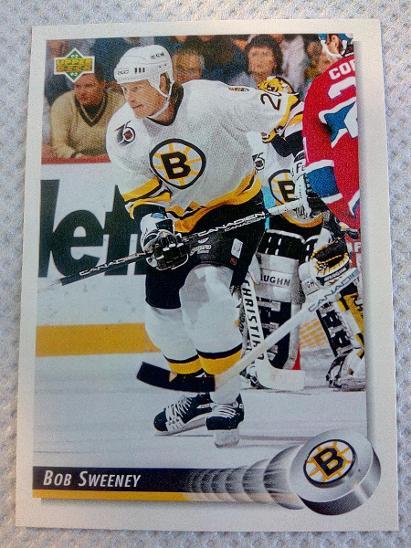 Bob Sweeney, Boston Bruins, #47, UD 1992/93 - Sportovní sbírky