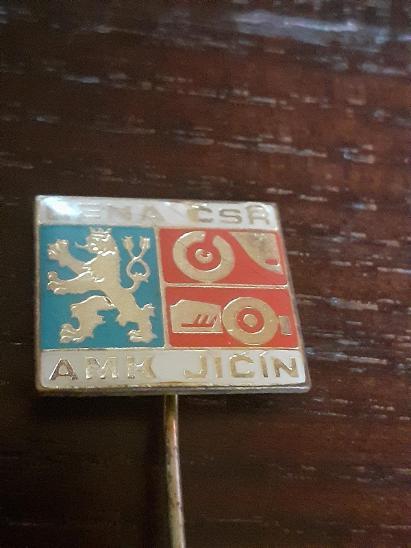 Odznak AMK JIČÍN  - CENA ČSR - motorismus - Faleristika