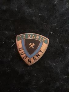 Odznak TJ Baník Dubňany