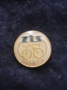 Odznak ZTS DUBNICA - cyklistika, bílá varianta