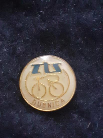 Odznak ZTS DUBNICA - cyklistika, bílá varianta  - Faleristika