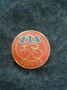 Odznak ZTS DUBNICA - cyklistika, červená varianta
