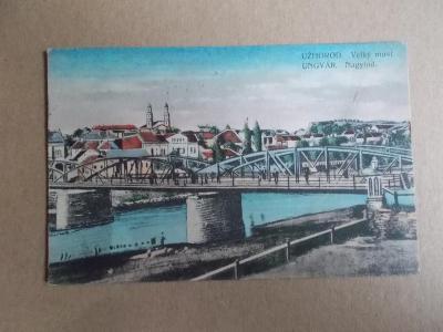 Československo Podkarpatská Rus Užhorod velký  most