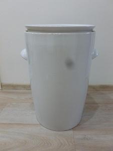 Starožitná keramická nádoba na zelí, zelák, kvašák zn. Ditmar Urbach