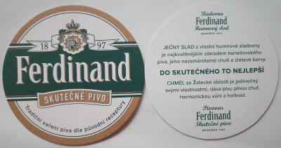 Pivní tácek nový - Ferdinand