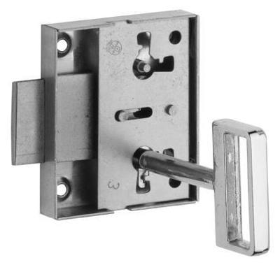 10 kusů nových nábytkových zámků Rostex 117/40 s obyčejným klíčem