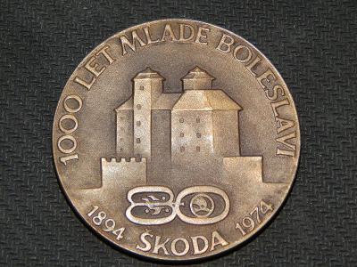 Medaile -  80. let Škoda  / Mladé Boleslavi