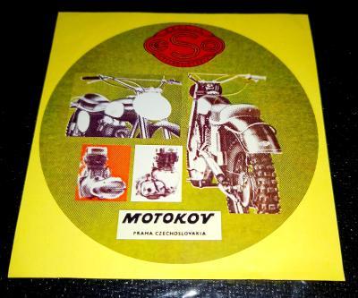 ESO MOTOCROSS, MOTOKOV PRAHA CZECHOSLOVAKIA, bílá samolepka pr.7-(1x)