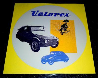 VELOREX , barevná verze, bílá samolepka pr.7-(1x)
