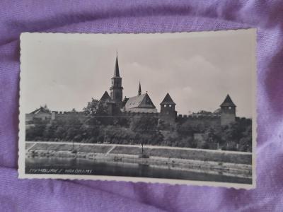 Pohlednice Nymburk s hradbami,prošlé poštou