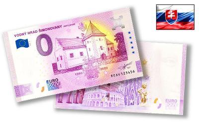 SK112 ● Euro Souvenir ● VODNÝ HRAD ŠIMONOVANY Partizánske [2020]