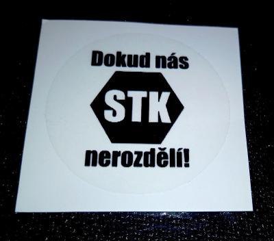Dokud nás STK nerozdělí! (čirá černá samolepka pr.4) dle foto (1x).