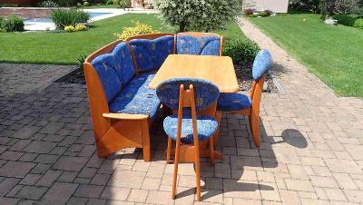Jídelní set - stůl, 2x lavice, 2x židle.