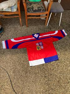 Dres Česká republika - národní dres - podpis Jágr x Ručínský - XL