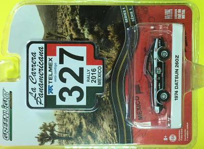 1974 Datsun 260Z Rallye 2016 Mexico- Greenlight 1/64 (E28-1)