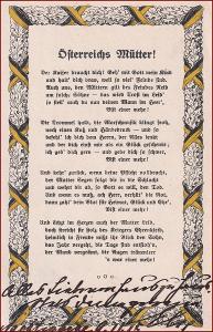Armáda * patriotika, stuha, báseň, válka, propagační, Rakousko * A194