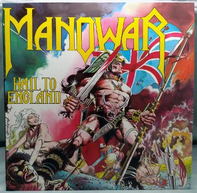 Manowar – Hail To England 1984 Holland Vinyl LP 1.press