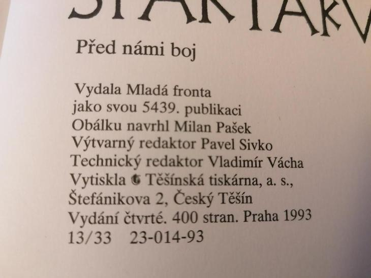 Spartakus - Před námi boj - Jarmila Loukotkova  - Knihy