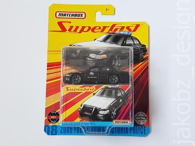 ---- Ford Crown Victoria Police (2006) - Matchbox Superfast ----------