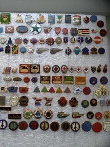 Odznaky různé - převážně smalt cca 200 ks