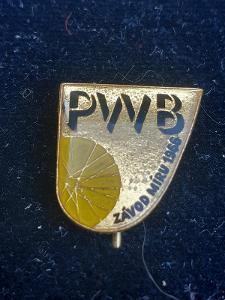 Odznak PWB ZÁVOD MÍRU - žlutá varianta