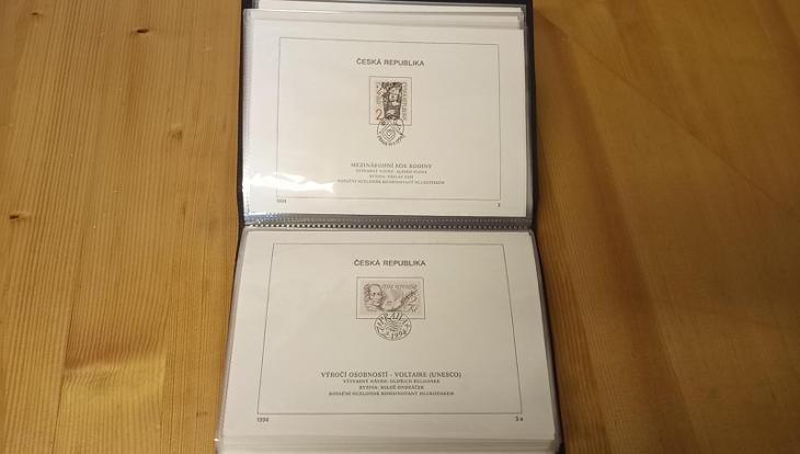 Nálepní listy ČR - 1993, 1994, 1995 + nové album Leuchturm Sleva! - Filatelie