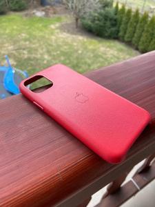 Kožený kryt pro iPhone 11 Pro | Leather case | červený