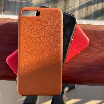 Kožený kryt pro iPhone 7/8 Plus | Leather case | černý, hnědý, červený