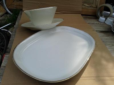 starý porcelán  -  tác+  - viz foto /871