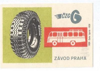 K.č. 2- 1726 České závody gumárenské...1959 Solo Lipník TOP