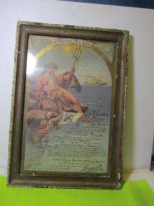 Obrázek s Poseidonem z roku 1922